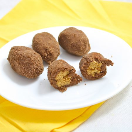 Nutter Butter Stuffed Chocolate Cookies