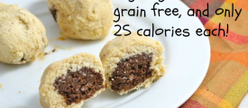 Healthy Brownie Stuffed Cookies- Vegan, gluten and grain free, and only 25 calories each!