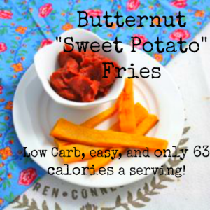 "Butternut ""Sweet Potato"" Fries (Low Carb/Fat Free/Paleo/Vegan)"