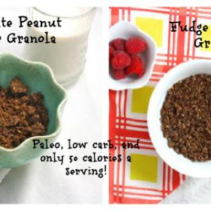 Low Carb Granola Two Ways (Vegan/Gluten Free/Grain Free/Paleo/Sugar Free)
