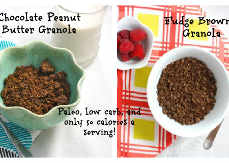 Low Carb Granola Two Ways (Vegan/Gluten Free/Grain Free/Paleo/Sugar Free)