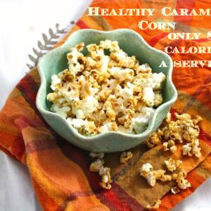 Healthy Caramel Corn (Vegan/Low Carb/Low Fat/Sugar Free)