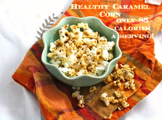Healthy Caramel Corn Vegan Low Carb Low Fat Sugar Free