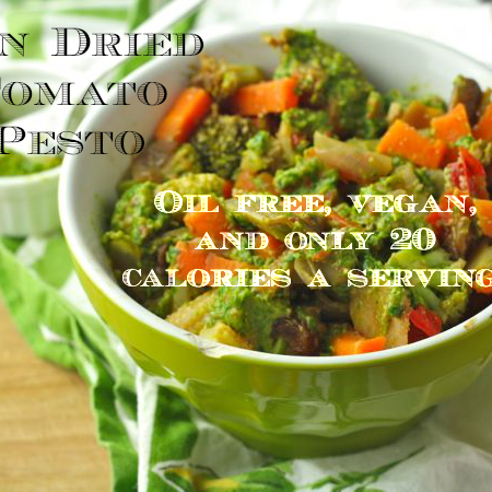 Sun Dried Tomato Pesto (Oil Free/Vegan/Low Fat/Paleo)