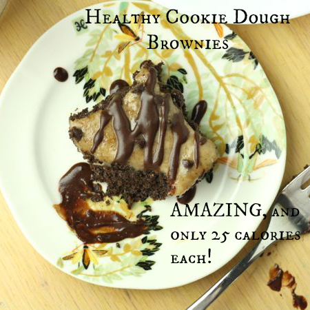 Healthy Cookie Dough Brownies (Vegan/Gluten Free/Paleo/Low Carb)