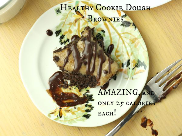 Healthy Cookie Dough Brownies Vegan Gluten Free Paleo Low Carb