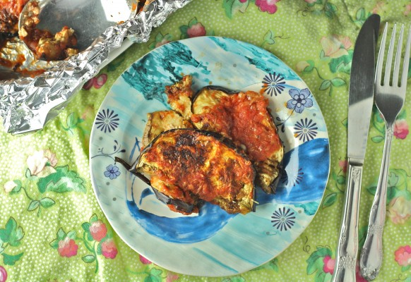 Healthy Eggplant Parm- 86 calories of bliss