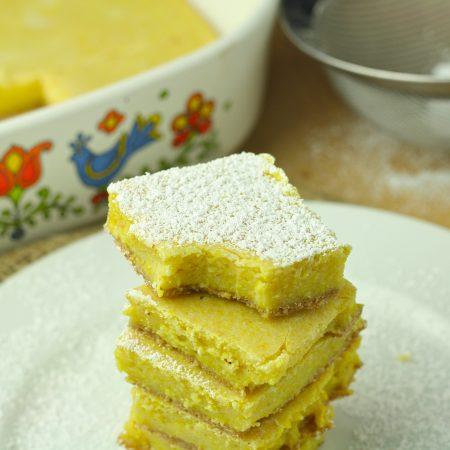 Healthy Lemon Bars (Low Carb/Low Calorie/Gluten Free/Paleo/Vegan)