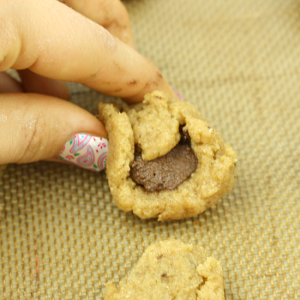 Chocolate Chip Nutella Filled Cookies