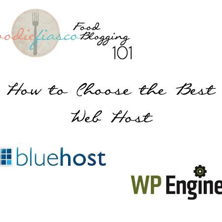 Food Blogging 101: Choosing the Best Web Host