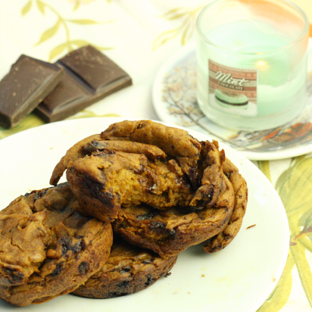 Flourless Pumpkin Chocolate Chip Muffins