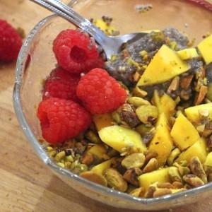 Mango Pistachio Chia Breakfast Pudding