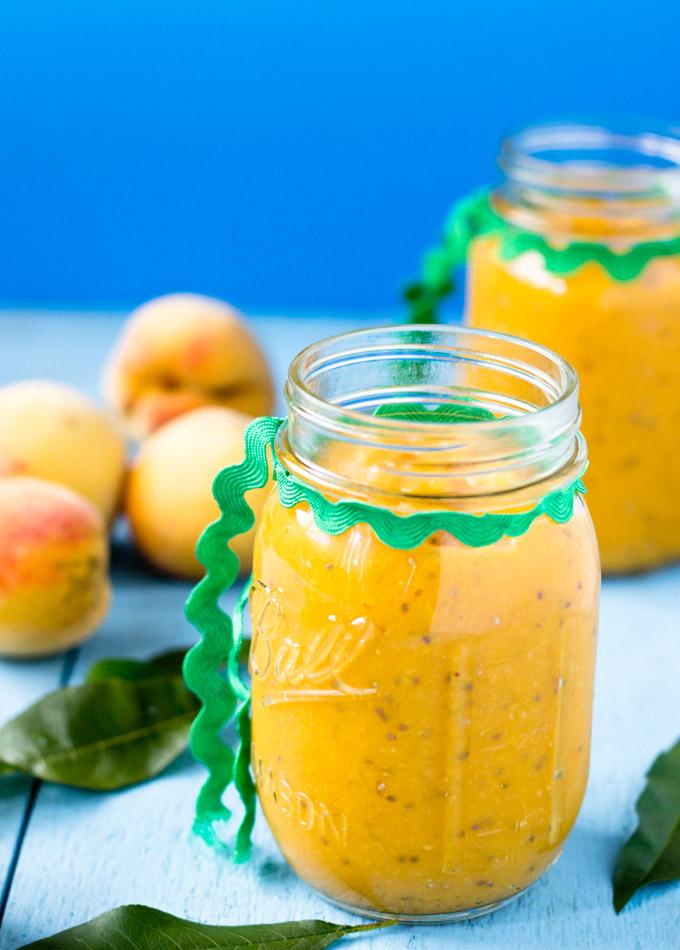 Ginger Chia Peach Sauce