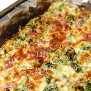 Low Calorie Cheesy Broccoli Quiche