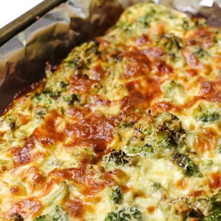 Low Calorie Cheesy Broccoli Quiche