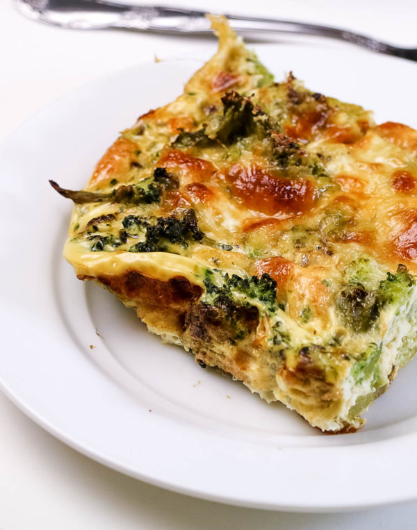 low calorie cheesy broccoli quiche low carb gluten free low fat. Black Bedroom Furniture Sets. Home Design Ideas