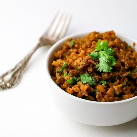 "Scrumptious Cauliflower Spanish ""Rice"""