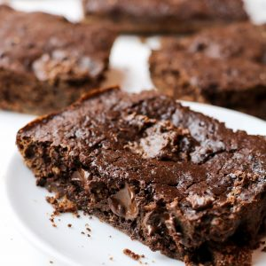 Healthy Nutella Brownies