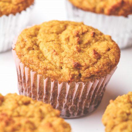 High Protein Pumpkin Spice Muffins